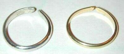 Handcrafted Toe Rings~Gold & Silver~Silky Smooth