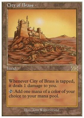 MTG 1x CITY OF BRASS - 6th Edition *Top Rare SL*
