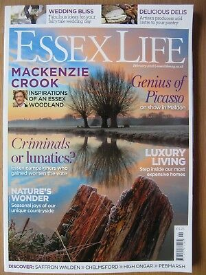 Essex Life magazine February 2018 Mackenzie Crook Picasso in Maldon Chelmsford