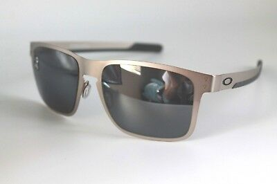 ed8cbe661ed Oakley Holbrook Metal Sunglasses OO4123-03 Satin Chrome W  Black Iridium  Lens