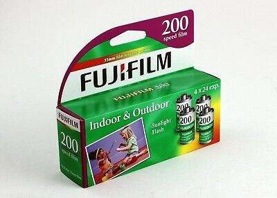 191928 One 4-Pack of *Expired* Fujicolor 200 ISO Color Print Film 24 Exp./Roll