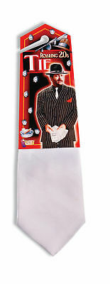 Gangster White Costume Tie Adult