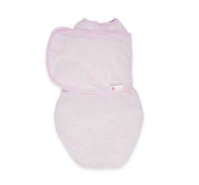 embe 2-Way Classic Cotton Swaddle for Babies 0-4 Months 6-14 Pounds Pink Stripe