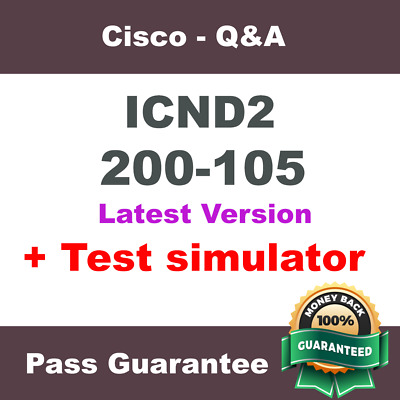 Cisco ICND2 Exam Dump for 200-105 Exam Q&A PDF (2018 Verified)