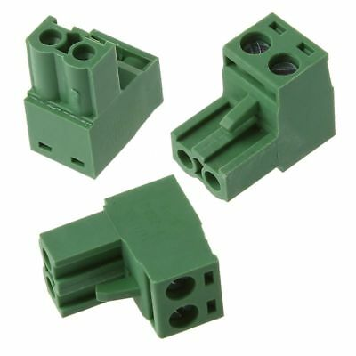20 Sets AWG 12-24 300V 10A 5.08mm Pitch PCB Screw Terminal Block Connector E1L2