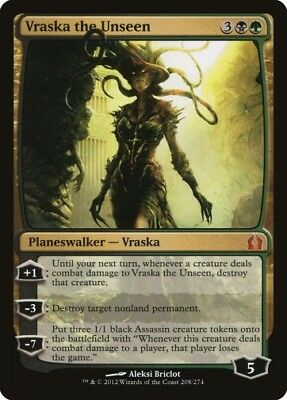 MTG 1x VRASKA THE UNSEEN - Return to Ravnica *Planeswalker NM*