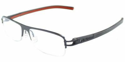 Tag Heuer Unisex Squared Eyeglasses TH7624 006 Silver/Red Frame With Demo Lens