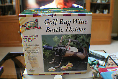 Clubhouse Collection Golf Bag Wine Bottle Holder Model 471