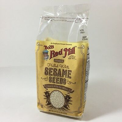 Bob's Red Mill - Pure & Simple - PREMIUM Hulled White Sesame Seeds 16oz 1 LB