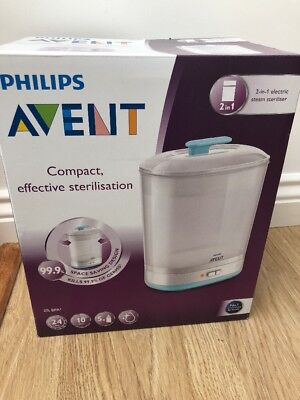 Philips Avent SCF922/01 2-in-1 Electric Steam Steriliser space saving New