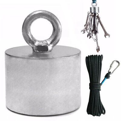 200kg Salvage Recovery Strong Magnet Hook Detector Treasure Fishing Hunting Set