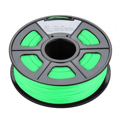 New 1.75mm Glow in the Dark PLA 3D Printer Filament - 1kg Spool (2.2 lbs) - S5H7