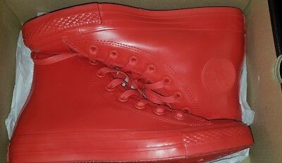 Converse Chuck Taylor Red Rubber All Stars High Tops Ladies 8 New In Box