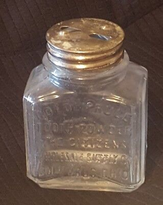 Vintage Antique Advertising glass bottle Golden Rule Tooth Powder Columbus, OH