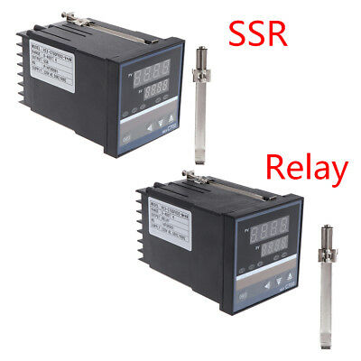 Temperature Controller 220V REX-C700 Universal Input Relay SSR Output Thermostat