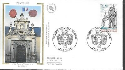 FR462) France 1987 Prytanée National Militaire Silk FDC $4.00
