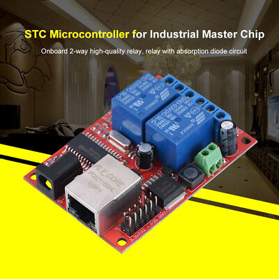 2-Way Ethernet Delay Relay Network Switch TCP/UDP Controller Module WEB Server