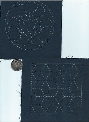 SASHIKO  Embroidery Coasters #1.. 100% cotton