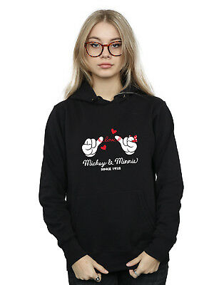 Disney Mujer Mickey Mouse Love Hands Capucha