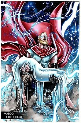 Mighty Thor #706 Marvel Comics 2018 Marco Checchetto Young Guns Variant Cover