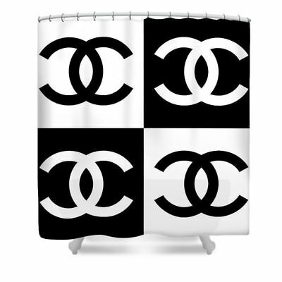 Chanel Classic Shower Curtain Size 60x72 66 X