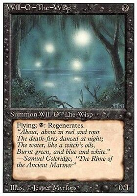 MTG 1x WILL-O-THE-WISP - Revised *Rare PLAYED*