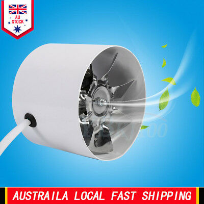 Efficient 4 Inch Duct Fan Exhaust Home Ventilation Air Vent Cooling 220V 20W AU