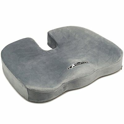 Seat Cushion Back Support Tailbone & Sciatica Pain Relief Orthopedic for Car