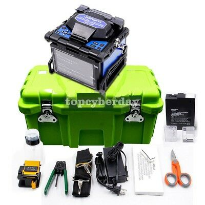 JW4108 Fiber Optic Splicing Machine FTTH Fusion Splicer Automatic Fiber Cleaver