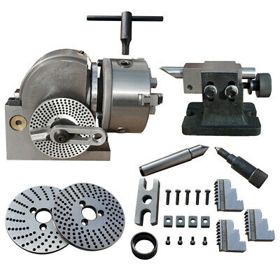 Bs-0 Semi-Universal Indexing Dividing Head 3-Jaw Chuck For Tailstock CNC Milling