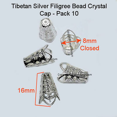 Filigree Bead Cap Silver 16mm 10 Pce - Jewellery Making Findings FBC3