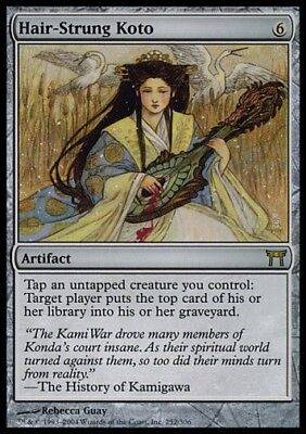 MTG 1x HAIR-STRUNG KOTO - CoK *Rare DEUTSCH GERMAN FOIL NM*