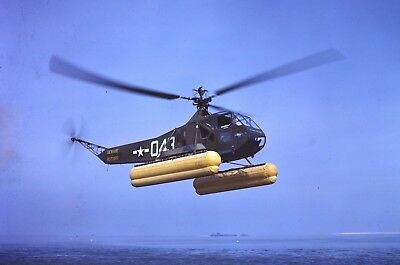 WWII photo Sikorski R-4B US Coast Guard helicopter in flight world war 70a