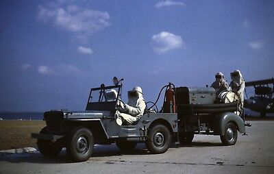 WWII photo US Coast Guard Air Force Command in the Willys world war 71a