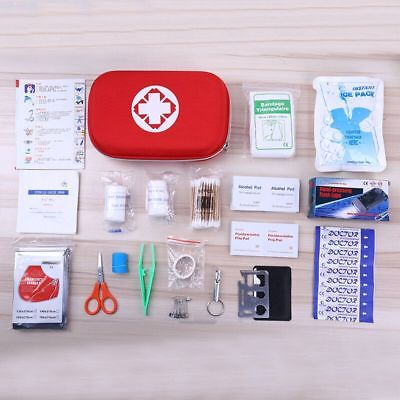 19pcs Outdoor Camping Hiking Survival Bag Travel Emergency Rescue First Aid Kit