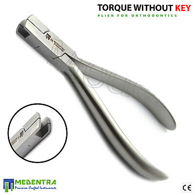 MEDENTRA Ortho Torque Key Pliers Arch Torquing Dental Plier+2 Keys French Grade