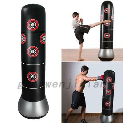 UK  Inflatable Boxing Punching Bag Stand MMA Kick Martial Training With Air Pump