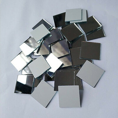 20pcs Small Plain Glass Crafts Premium Mosaic Tiles Mirror for Walls Decoration