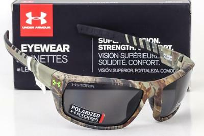 4e49a8a396 NEW UNDER ARMOUR RANGER SUNGLASSES Satin Realtree Camo   Gray Storm  Polarized