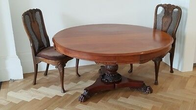 Antique Victorian Circular Dining Table