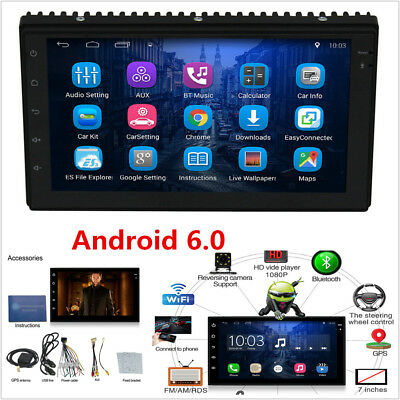 """HD 7"""" HD Android 6.0 2Din Car Stereo GPS Wifi Radio OBD RDS/AM/FM MP3 MP5 Player"""