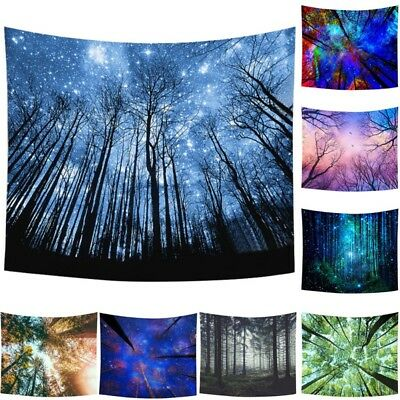 Forest Star Boho Mandala Tapestry Indian Wall Hanging Decor Throw Bedspread Mat