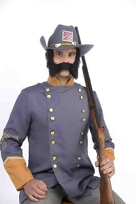 Black Mutton Chops Costume Sideburns And Mustache One Size
