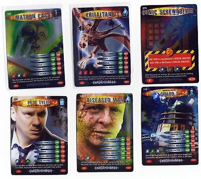 Doctor Who Battles In Time Exterminator Cards Rare + Super Rare choose from list