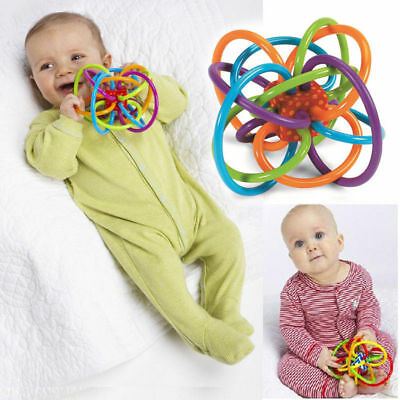 NEW0+ Infant Baby Kids Toy Ball Winkel Sensory Puzzle Teether Activity BPA Free