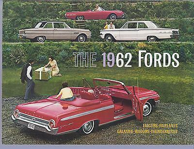 1962 Ford Full Line Sales Brochure Original