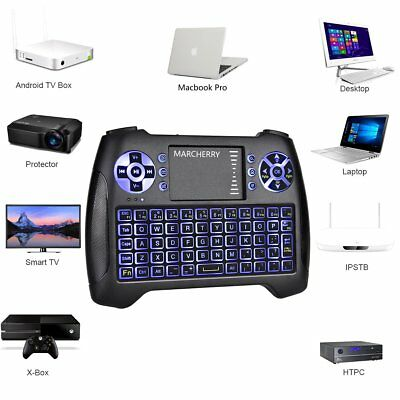 Wireless 2.4GHz 3 Color Backlit Mini Wireless Keyboard with Touchpad Mouse