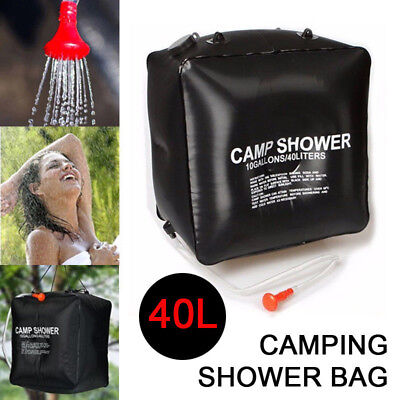 40L Solar Heated Water Hiking Camping Camp Shower Bag Outdoor Travel Portable AU