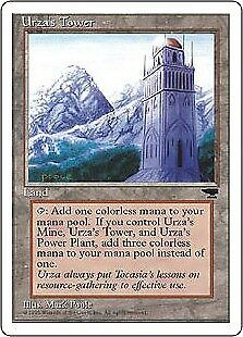 MTG 1x URZA'S TOWER - Chronicles *Version Mountains NM*