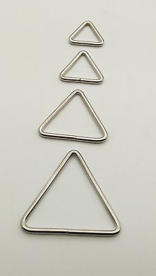 25 MM TRIANGLE Metal  Rings Wire Formed Buckles for Webbing Strap Tape Bag CRAFT